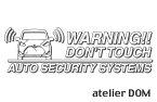 [ゆうパケット送料無料]アトリエDOMオリジナル[職人手作り]シエンタ170/175用セキュリティーステッカー3枚セット