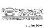 デリカD:5 後期 アーバンギア用セキュリティーステッカー3枚セット[ゆうパケット送料無料]アトリエDOMオリジナル[職人手作り]
