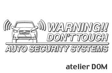 フォレスターSJ XT 用セキュリティーステッカー3枚セットアトリエDOMオリジナル[職人手作り]