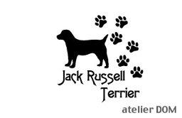 [犬のステッカー]『DOG STICKER』肉球いっぱいドッグステッカージャックラッセルテリア(Sサイズ)