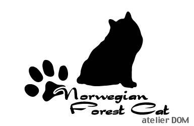 少し大きめのキャット猫ステッカーノルウェージャンフォレストキャットAタイプ