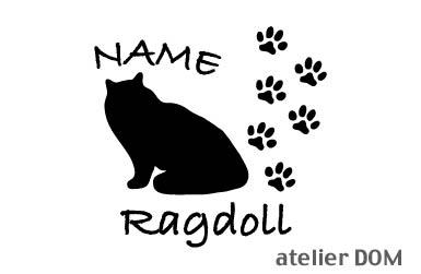 名前入り猫 キャットステッカーラグドール