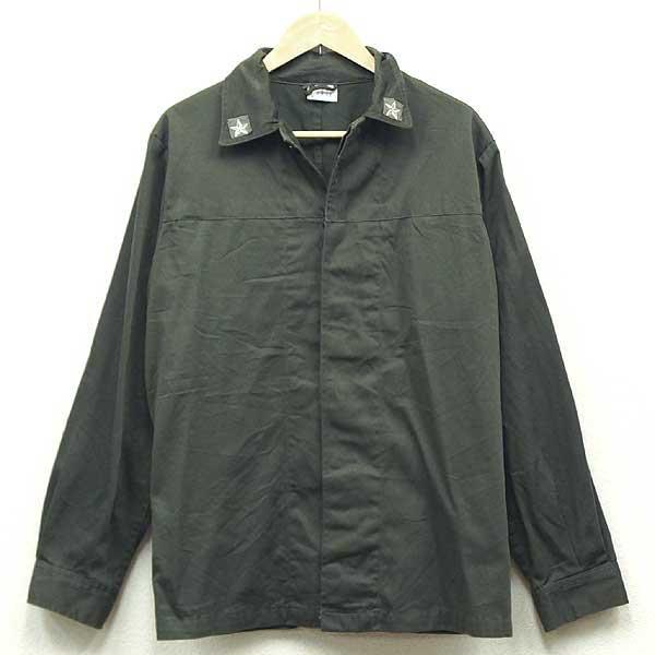 【中古】◆実物 イタリア軍 ファティーグシャツジャケット オリーブ♪ミリタリー アーミー 軍物 ヨーロッパ ユーロサープラス 放出品