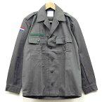 新品◆実物 オランダ軍 フィールドシャツジャケット 1980年代 グレー♪デッドストック ミリタリー アーミー 軍物 ユーロサープラス 長袖