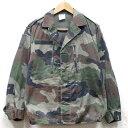 【中古】◆実物 フランス軍 F2ジャケット カモフラージュ♪軍物 ミリタリー ヨーロッパ コンバット アーミー 軍用