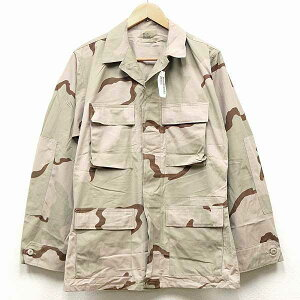 【中古】美品◆実物 米軍 3Cカラー デザートカモ BDU ジャケット♪迷彩 ARMY ミリタリー 米軍 アメリカン スナイパー アーミー 軍物 NYCO コンバット