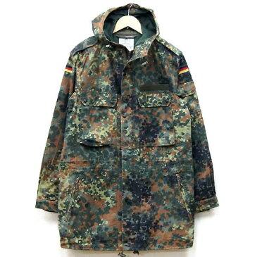 【中古】◆実物 ドイツ軍 フレックカモ パーカ フレクター♪迷彩ジャケット ミリタリー パーカー アーミー 連邦軍 ジャケット 軍物 カモフラ 放出品