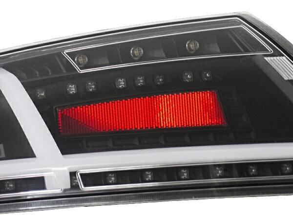 アウディ TT 8J ファイバーLEDテールランプ ブラック 現行純正シーケンシャルスタイル 8S風 クワトロ
