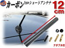 カーボンアンテナ 黒 12cm 【ポイント10倍】汎用シームレス ...