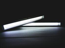 ライトバー【商品一覧】LEDデイライトCOBフォグランプホワイト白取付ステー付属汎用12V対応面発光ランプ防水2個セット高輝度リフレクターハイパワー