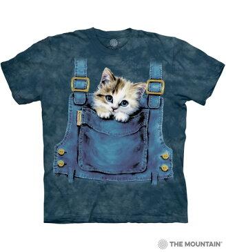 S-Lサイズ The Mountain Kitty Overalls メンズ オーバーオール ネコ 子ネコ メーカー直輸入品 Tシャツ
