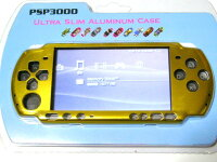 PSP-3000専用★本体保護アルミニウムケースカバー新品メタル桃