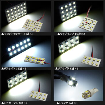 20セルシオ UCF20 SMD LEDルームランプ 133発【送料無料】
