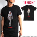 SALE/BNDN/バンダナ/KIMRED-LOGOプリントTシャツ/BLACK/ブラック/イタリア製/半袖/メンズ/2019春夏新作/BNDN04/M/L/XLサイズ/ストリート/バンドTEE/HIPHOP/アーティスト/あす楽/