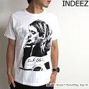 【SALE】INDEEZ(インディーズ) 「KURT COBAIN」Tシャツ メンズ 半袖Tシャツ カートコバーンプリントTシャツ クルーネック ホワイト WHITE S/M/Lサイズ 【あす楽】【ネ