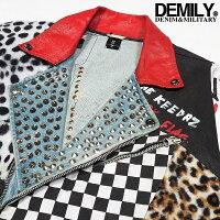 DEMILY(デミリー)リメイクデニムライダースジャケットメンズ2019春新作デニムFREEワンサイズ1点物【送料無料】【あす楽】