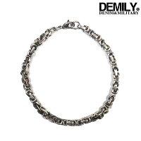 DEMILY(デミリー)ブレスレット#3メンズ2019春夏新作ステンレスブレスレット金属アレルギー対応チェーンアクセサリーシルバー【あす楽】