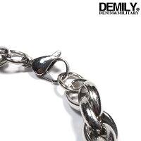 DEMILY(デミリー)ブレスレット#2メンズ2019春夏新作ステンレスブレスレット金属アレルギー対応チェーンアクセサリーシルバー【あす楽】