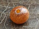 【1708】熟色カーネリアン扁平丸型玉G5,とんぼ玉,アンティークビーズ