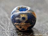 ジャワ島出土セミクリア瑠璃色中粒マニックブルン1,とんぼ玉,アンティークビーズ