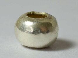 【1404】カレンシルバースペーサー扁平丸玉AΦ9.0mm,とんぼ玉,アンティークビーズ