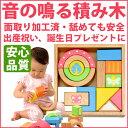 木製玩具(木のおもちゃ)音が出る積み木 SOUNDブロックス 15ピース入り(サウンド ブロックス ...