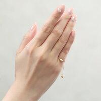 チェーンリング(指輪)・一粒ダイヤモンド・0.1ct・フリーサイズ(−1号~20号)・K18YG/K18PG/K18WG【送料無料】【_包装】