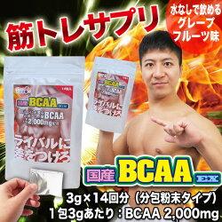 「国産BCAAEX」サプリメント2,000mg分枝鎖アミノ酸筋トレトレーニングバリンロイシンイソロイシン筋肉強化安心国内製造分包粉末携帯可能