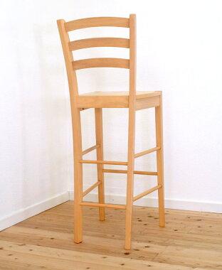 【木製カウンターハイチェア/CbK409/ナチュラル(ビーチ)色】カラフルカウンターチェア/木製カウンター椅子/木製ハイチェア/木目/白木