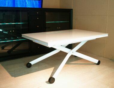 高さも大きさも自在に変えられるテーブルです♪