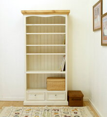 パイン家具白い本箱、白い飾り棚、白いカントリー本箱、パイン無垢材本箱、パイン材本箱飾り棚...