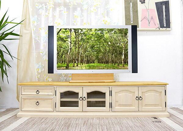 白いカントリーテレビ台 【フレンチカントリー ローテレビボード MW1800mBJ リング取手 ミルキーホワイト色】 フレンチカントリー家具 パイン家具 ローボード 白いテレビボード 白いテレビ台 高さ40cm 幅180cm:BANJO