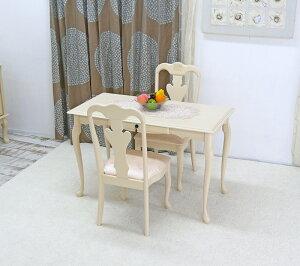 クラシック調 猫脚 コンソールセット ドレッサー 120cm幅 チェア2脚セット/2人掛け/ロゼ 汚れに強い PVCレザー座面を採用 猫脚テーブル 猫脚椅子 テーブルとチェア