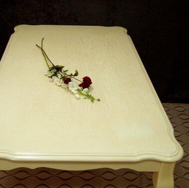 クイーンアン【クラッシックテーブル150cm幅チェアとベンチセットアンティークホワイト色】猫脚テーブル4点セット、店舗用商品陳列用テーブル、テーブルとチェア2脚ベンチ1台セット