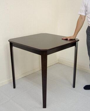 角が痛くない木製ダイニングテーブル