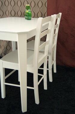 【木製チェア/CDK0383/ホワイト】白いダイニングチェア/白い木製食堂椅子/木製デスクチェア/白色ホワイト