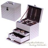 高級ジュエリーケース アクセサリーケース 送料無料 キルティング 宝石箱 コレクションケース 収納ケース 収納ボックス ジュエリーボックス ジュエリーBOX 宝箱 宝石箱 jewelrybox 指輪入れ リングケース アクセサリー accessory レディース レデイース case