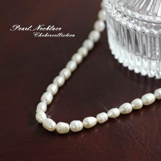 淡水珍珠項鍊淡水珍珠項鍊配件婚禮聚會優雅正式別致邀請的 perlchorker 珍珠項鍊珍珠項鍊珍珠項鍊魅力