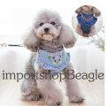 【メール便送料無料】花柄刺繍が可愛いデニムハーネス・リードセット犬用品・ペットグッズ・DOGハーネス小型犬中型犬犬ハーネスリードセットリュックドッグあす楽対応デニム生地