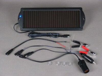 バッテリー チャージャー 充電器 ソーラーチャージャー 1.5w 自動車 バイク シガーソケッ…