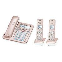 【送料無料】パナソニック【子機2台】デジタルフルコードレス留守番機「RU・RU・RU(ル・ル・ル)」(ピンクゴールド)VE-GZ50DW-N