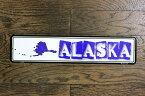 アラスカ州 ALASKA ミニストリートサイン アメリカンブリキ看板 アメリカ ブリキ看板 アメリカン雑貨 アメリカ雑貨 サインプレート サインボード ティンサイン メタルプレート おしゃれ 店舗 カフェ バー ガレージ インテリア フラッグ柄 ブリキ ポスター 看板