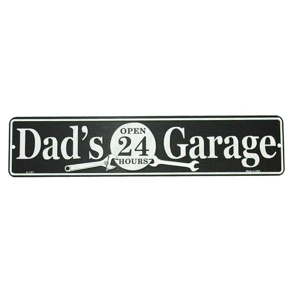 パパのガレージDad'sGarageミニストリートサインアメリカンブリキ看板アメリカブリキ看板アメリカン雑貨アメリカ雑貨サインプ