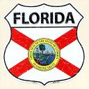 フロリダ州 FLORIDA 標識型 州旗柄 アメリカンブリキ看板 アメリカ ブリキ看板 アメリカン雑貨 アメリカ雑貨 サインプレート サインボード メタルプレート おしゃれ 店舗 カフェ バー ガレージ インテリア フラッグ柄 ブリキ ポスター 看板
