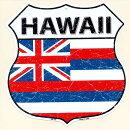 ハワイ州★HAWAII・標識型・州旗柄★アメリカンブリキ看板★【楽ギフ_包装】★【あす楽対応_関東】【あす楽対応_近畿】