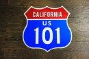 【送料無料】アメリカの国道101号線の標識★カリフォルニア区間・ルート101★トラフィックサインアメリカン雑貨アメリカ雑貨サインプレートメタルプレートガレージおしゃれ店舗カフェバーインテリアブリキ看板大型看板交通標識