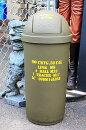 アメリカ陸軍仕様★ドーム型のゴミ箱・45リットル★ARMY・カーキ★アメリカ雑貨・アメリカン雑貨・ごみ箱★【あす楽対応_関東】【あす楽対応_近畿】