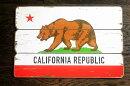 カリフォルニア★フラッグ柄・木製壁飾り(木製ボード)・木製看板★アメリカン雑貨アメリカ雑貨アメリカカリフォルニア西海岸雑貨カリフォルニアベアインテリア