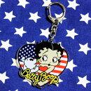 ベティ・ブープキーホルダー星条旗柄アクリル製BettyBoopアメリカ雑貨アメリカン雑貨キャラクターベティちゃんグッズ