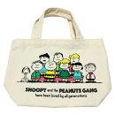 スヌーピーミニトートバッグ70周年ピーナッツギャング柄SNOOPY雑貨スヌーピーグッズチャーリーブラウンウッドストックおしゃれポップかわいい